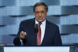 Former Defense Secretary Leon Panetta, speaks during the third day of the Democratic National Convention in Philadelphia , Wednesday, July 27, 2016. (AP Photo/J. Scott Applewhite)
