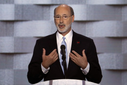 Gov. Tom Wolf, D-Pa., speaks during the final day of the Democratic National Convention in Philadelphia , Thursday, July 28, 2016. (AP Photo/J. Scott Applewhite)