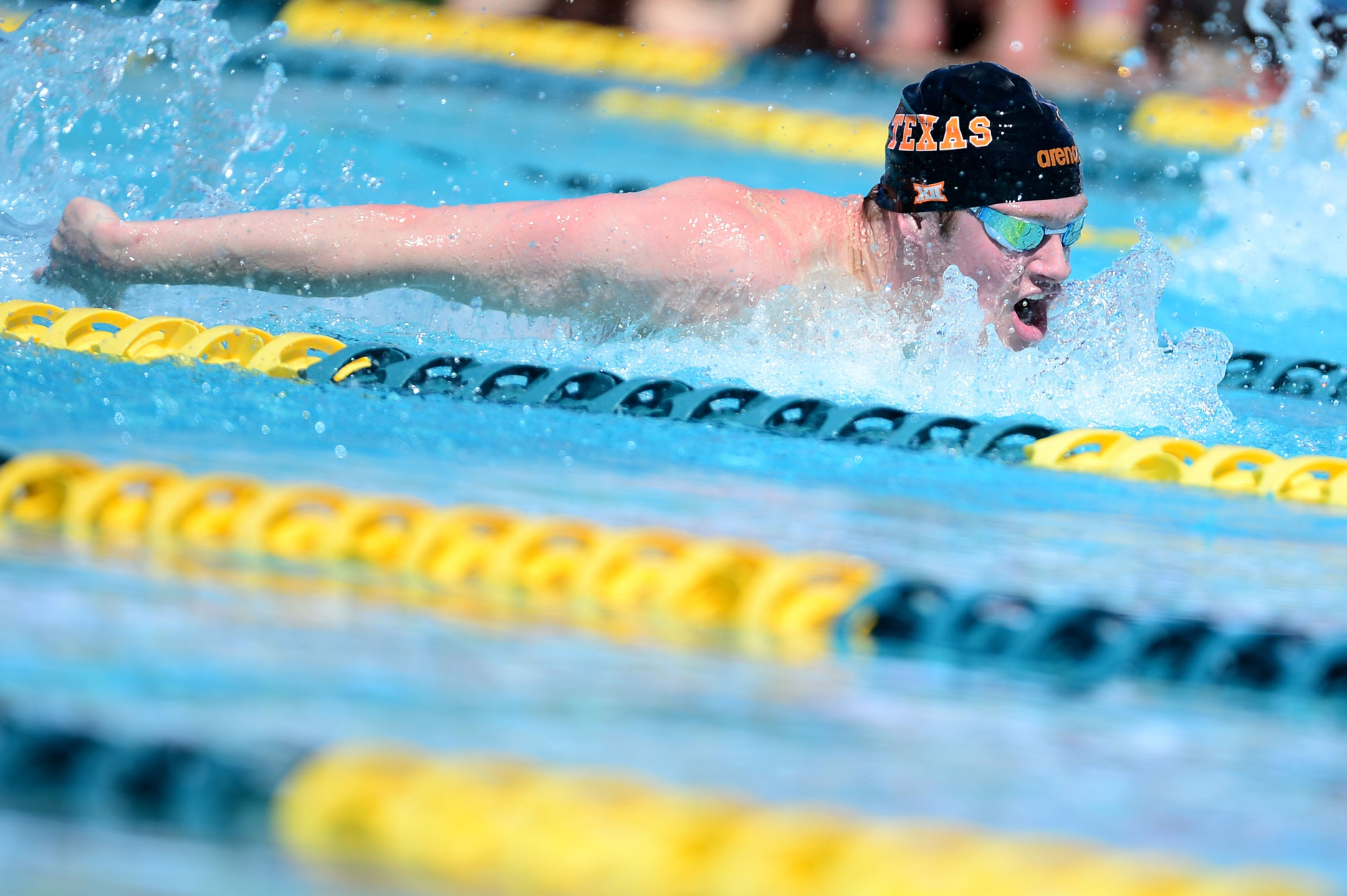 MESA, AZ - APRIL 14:  Jack Conger competes in the Men 100 LC Meter Butterfly prelims at Skyline Aquatic Center on April 14, 2016 in Mesa, Arizona.  (Photo by Jennifer Stewart/Getty Images)
