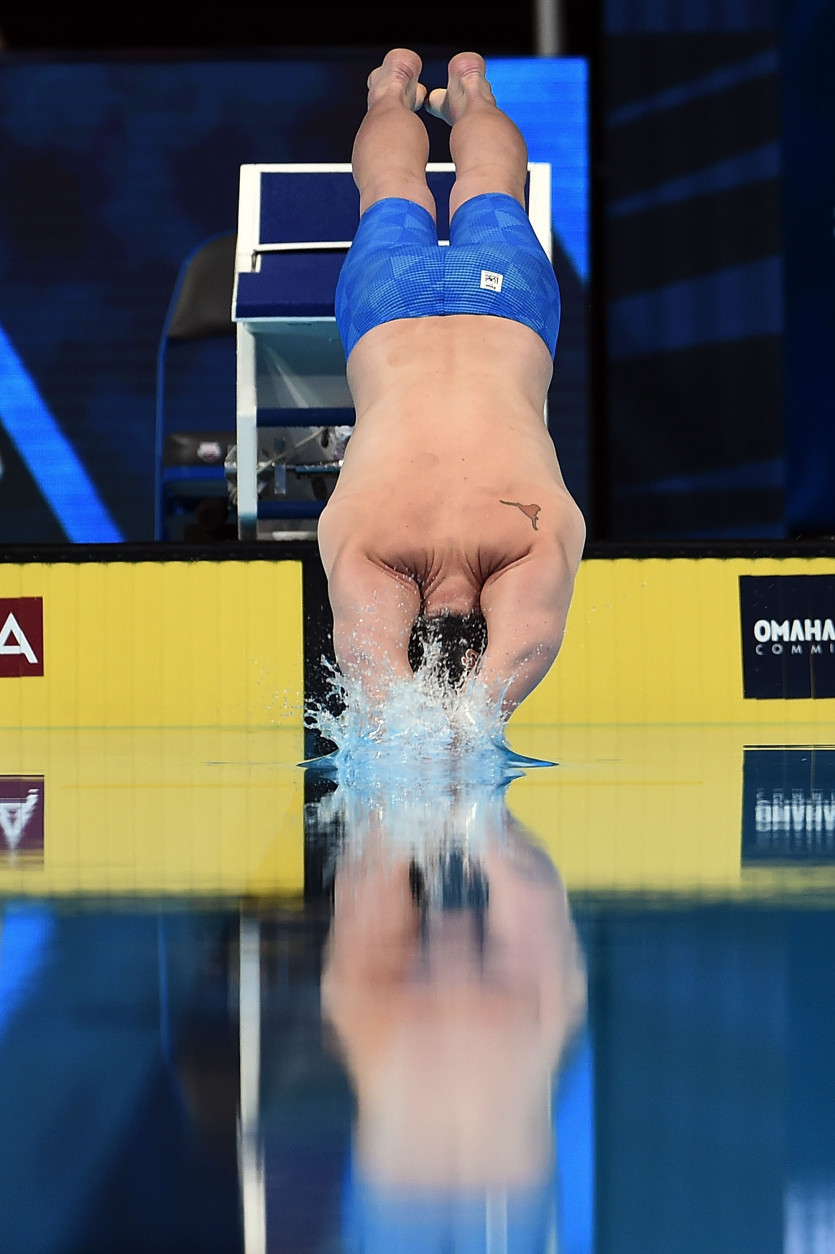 OMAHA, NE - JUNE 27:  Jack Conger of the United States competes in a semi-final heat of the Men's 200 Meter Freestyle during Day 2 of the 2016 U.S. Olympic Team Swimming Trials at CenturyLink Center on June 27, 2016 in Omaha, Nebraska.  (Photo by Stacy Revere/Getty Images)