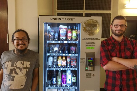 Hungry? Grab a salmon. Constructing customizable vending machines