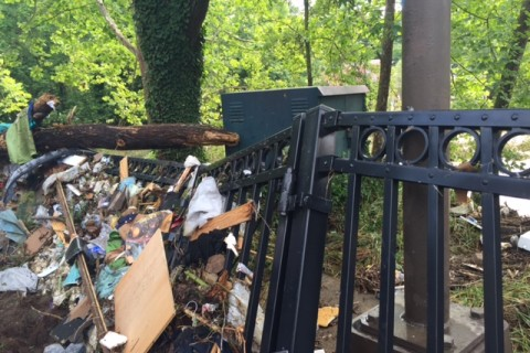 Residents, business owners return to Ellicott City to clean up