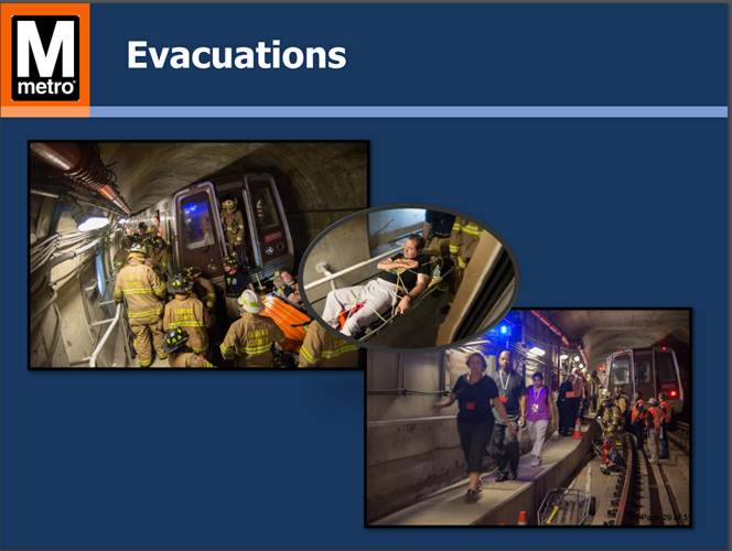 Photos from Metro's most recent quarterly safety drill. Metro Transit Police Chief Ron Pavlik said he hoped he would have seen improvement in communication during emergencies, but the drill showed they still need to improve. (WMATA)