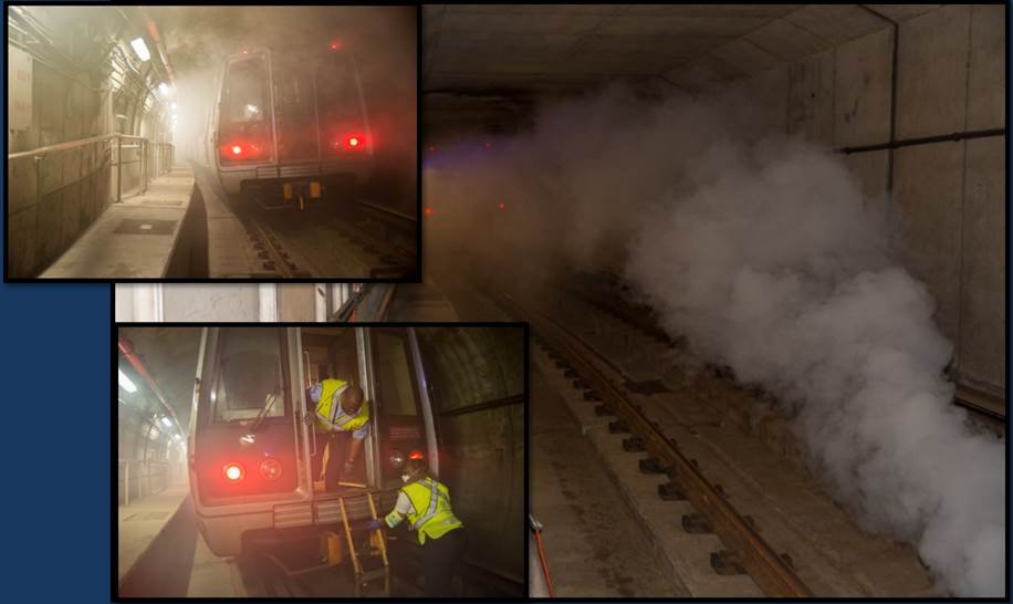 Metro's most recent quarterly safety drill revealed that Metro and first responders still need to improve their communication with riders during emergency situations. (WMATA)