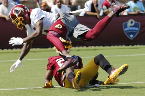 Wide receiver matchups provide early highlights at Redskins Camp
