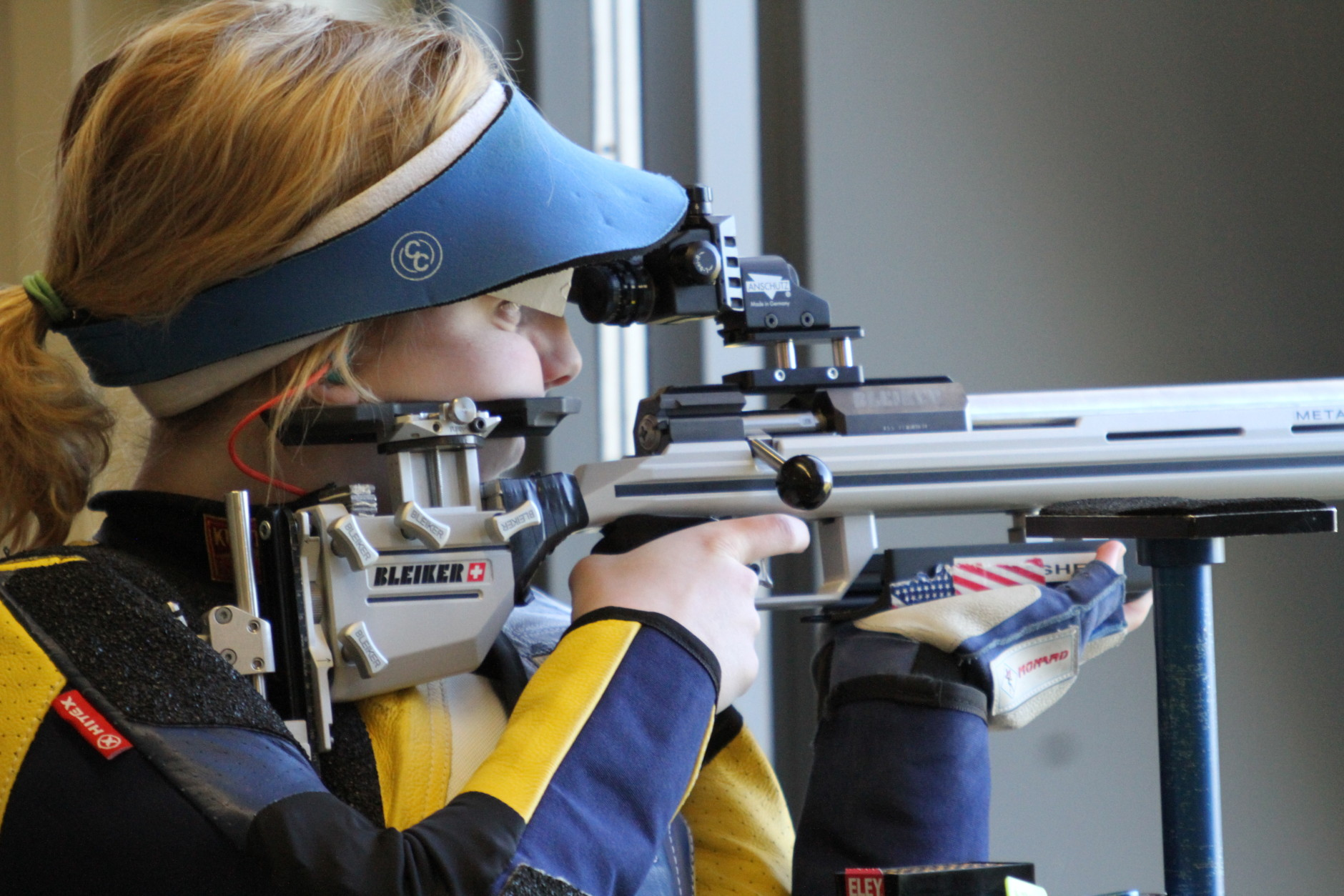 In this image provided by USA Shooting, Ginny Thrasher is shown at the 2016 U.S. Olympic Team Trials for Smallbore at Fort Benning, Ga., in April. Thrasher was a surprise double NCAA champion as a freshman and followed that up by winning the U.S. Olympic Trials three weeks later. After a run like that, there's no reason to think she can't win Olympic gold in Rio. (USA Shooting via AP)