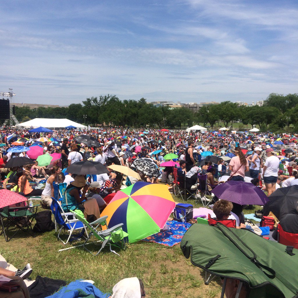 Thousands of Christians gather at the Washington Monument Grounds to pray during Together 2016 on Saturday, July 16, 2016. (WTOP/Dick Uliano)