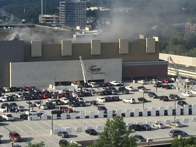 Fire Ladders Seen At Tysons Corner Center On July 15 2016 Courtesy Jblocksom Twitter