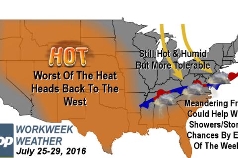 Workweek weather: Heat wave rolls on; relief possible midweek