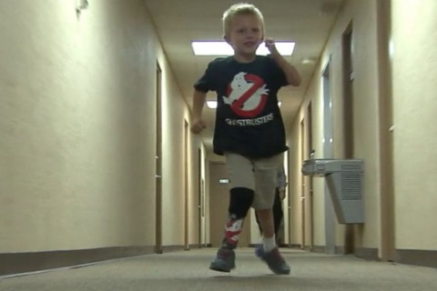 4-year-old whose prosthetic leg was stolen gets new 'Ghostbusters'-themed limb, free trip to Disneyland