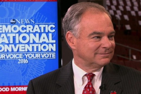Kaine: Trump is a 'threat' to Sanders' supporters and their values
