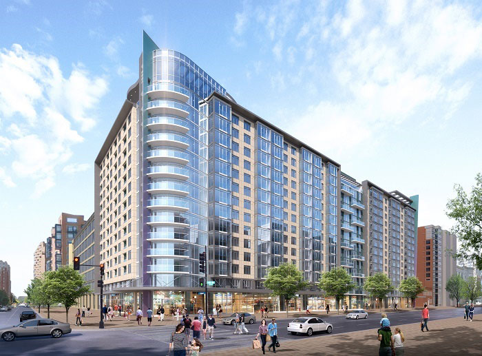 Attirant A Rendering Of The 14 Story Lydian Apartment Building In Mount Vernon  Triangle In Northwest D.C. Is Seen. Construction Is Now Underway On The  Luxury ...