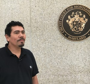 After the sentencing of his brother's murderer, Nelson Navarro told reporters that the loss of his brother was hard on the family. (WTOP/Kate Ryan)