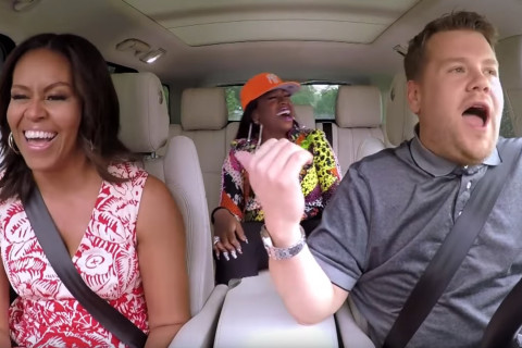 First lady, James Corden hit the road for 'Carpool Karaoke'