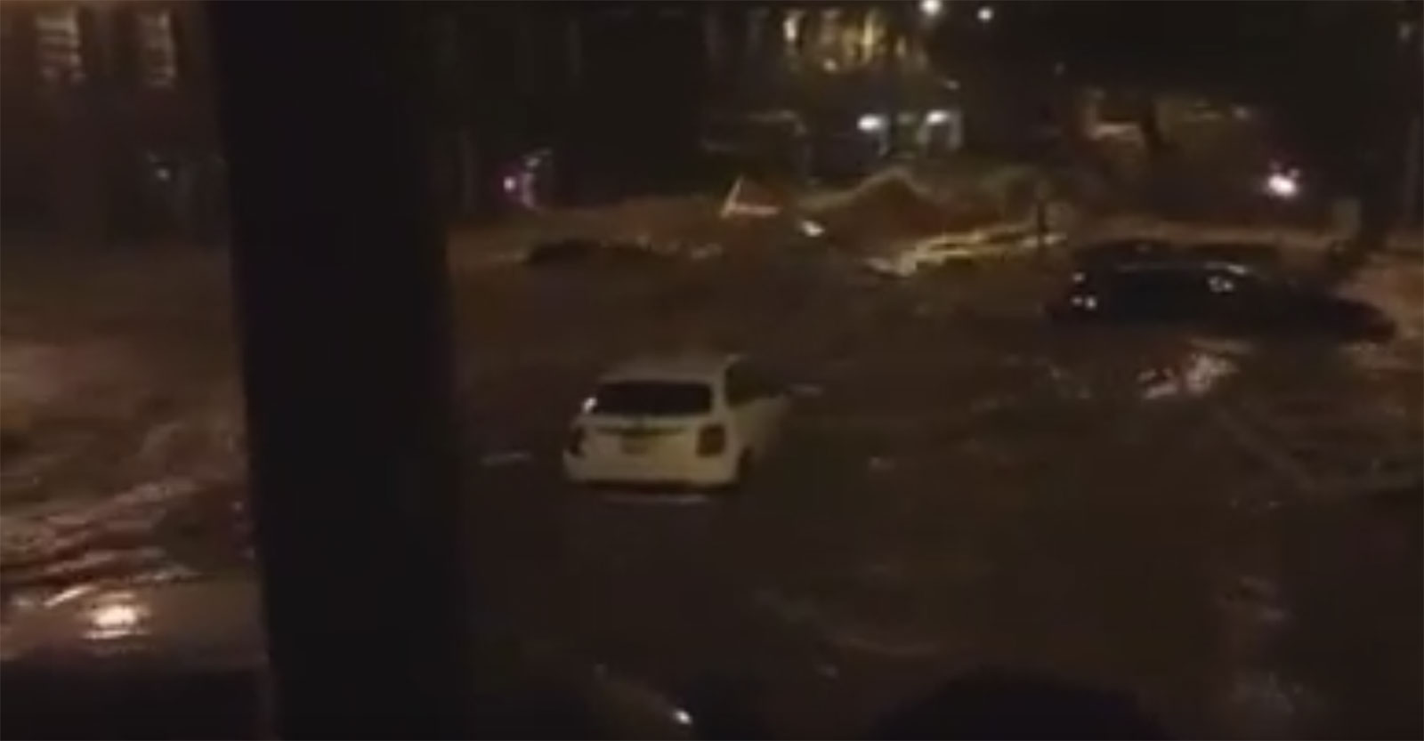 Ellicott City experienced major flash flooding that started around 9:30 p.m. Saturday, July 30, 2016. (Courtesy YouTube)