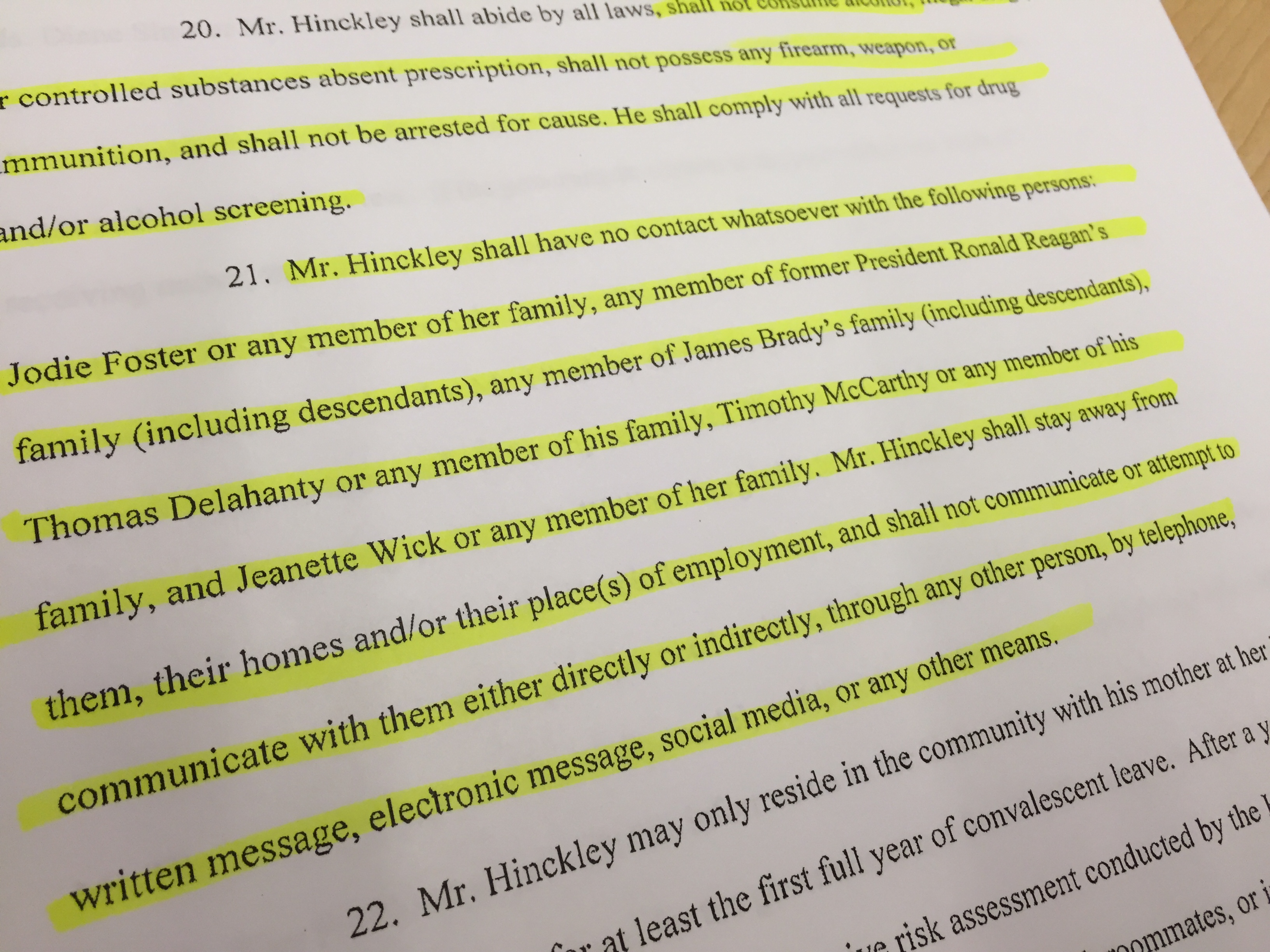 With freedom, Hinckley faces scrutiny of girlfriends, internet use