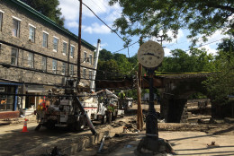 Scenes from the clean-up of Ellicott City after flash floods on July 30 ravaged the city's historic Main Street. (WTOP/Nick Iannelli)