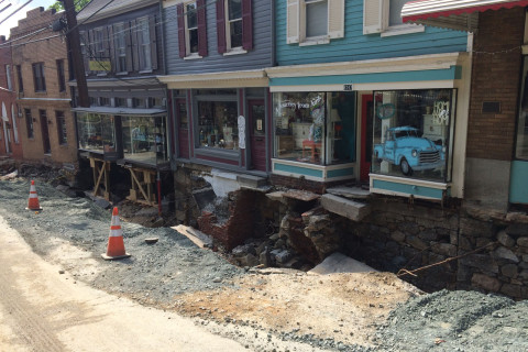 Ellicott City leaders allow residents access to Main Street, with goal to reopen