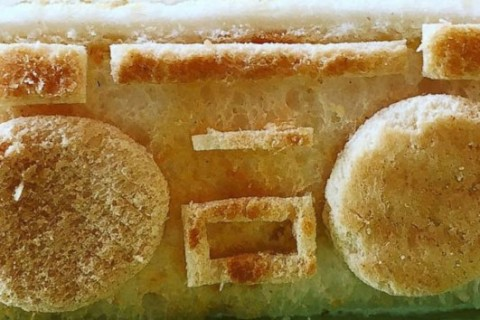 Dad's stunning toast art makes breakfast fun again for daughter with food allergies