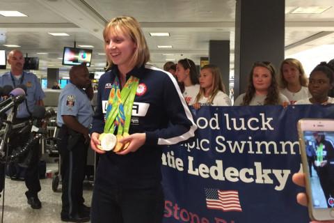 Katie Ledecky, Bethesda's hometown gold medalist, returns