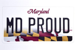 Maryland's new license plate design. (Photo courtesy Maryland governor's office)