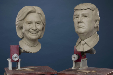 Madame Tussauds gets an early start on the next president