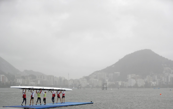 Olympic rowing regatta off again as winds rage