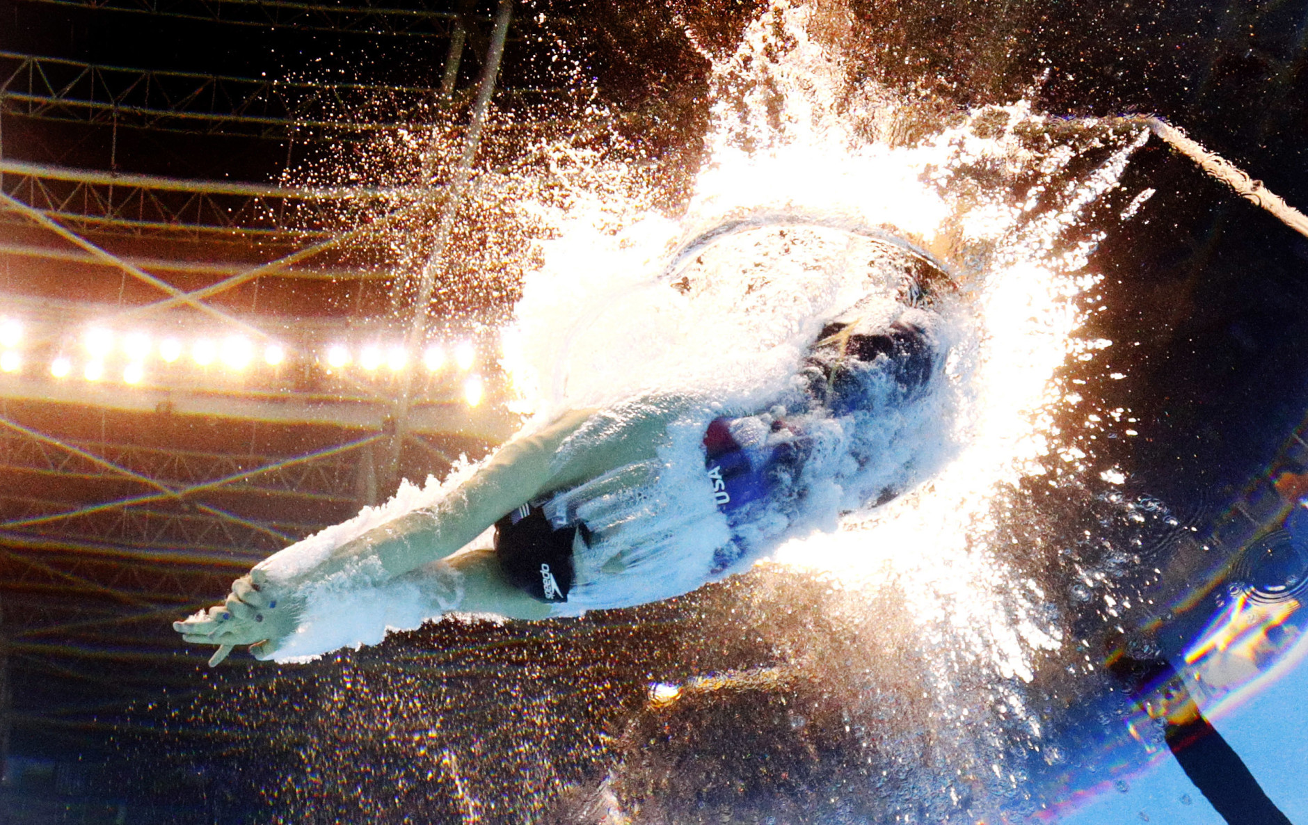 United States' Katie Ledecky competes in a semifinal of the women's 200-meter freestyle during the swimming competitions at the 2016 Summer Olympics in Rio de Janeiro, Brazil, Monday, Aug. 8, 2016. (AP Photo/David J. Phillip)