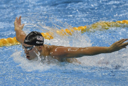 United States' Chase Kalisz competes in the men's 400-meter individual medley final during the swimming competitions at the 2016 Summer Olympics, Saturday, Aug. 6, 2016, in Rio de Janeiro, Brazil. (AP Photo/Martin Meissner)