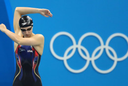 United States' Katie Ledecky prepares to compete in the final of the women's 400-meter freestyle during the swimming competitions at the 2016 Summer Olympics, Sunday, Aug. 7, 2016, in Rio de Janeiro, Brazil. (AP Photo/Lee Jin-man)