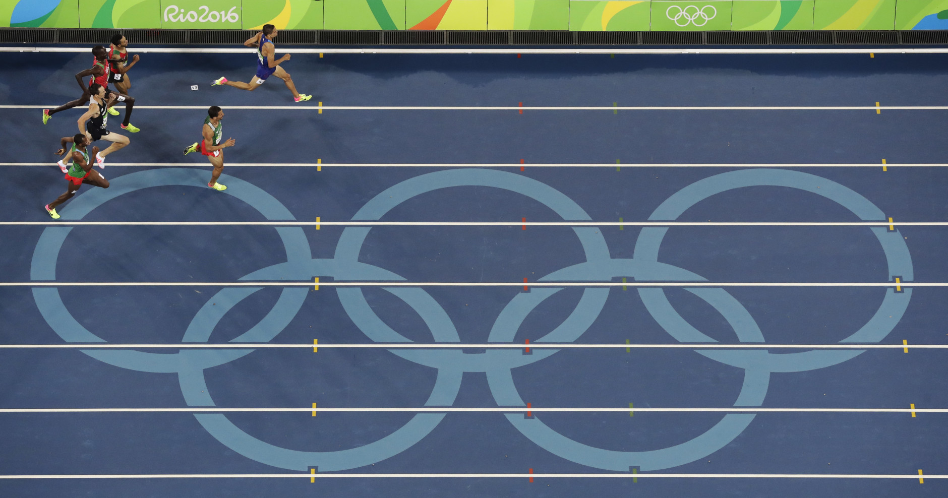 United States' Matthew Centrowitz wins a gold medal in the 1500 meter finals during the athletics competitions of the 2016 Summer Olympics at the Olympic stadium in Rio de Janeiro, Brazil, Saturday, Aug. 20, 2016. (AP Photo/Morry Gash)