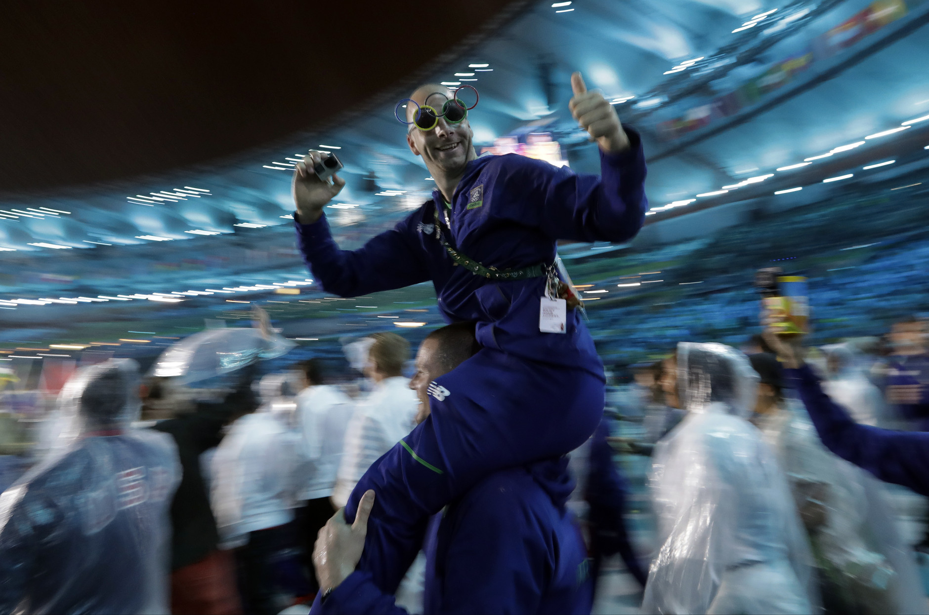 United States' athletes march in during the closing ceremony in the Maracana stadium at the 2016 Summer Olympics in Rio de Janeiro, Brazil, Sunday, Aug. 21, 2016. (AP Photo/David Goldman)