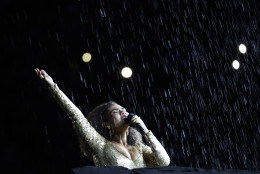 Mariene de Castro performs during the closing ceremony for the Summer Olympics in Rio de Janeiro, Brazil, Sunday, Aug. 21, 2016. (AP Photo/Vincent Thian)