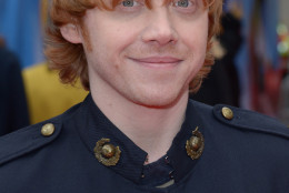 Rupert Grint poses for photographers on the red carpet for  Postman Pat World Premiere on Sunday May 11, 2014. (Photo by Jon Furniss/Invision/AP)