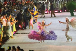 Performers dance during the closing ceremony in the Maracana stadium at the 2016 Summer Olympics in Rio de Janeiro, Brazil, Sunday, Aug. 21, 2016. (AP Photo/Mark Humphrey)