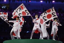 Artists perform during the closing ceremony in the Maracana stadium at the 2016 Summer Olympics in Rio de Janeiro, Brazil, Sunday, Aug. 21, 2016. (AP Photo/Matt Dunham)