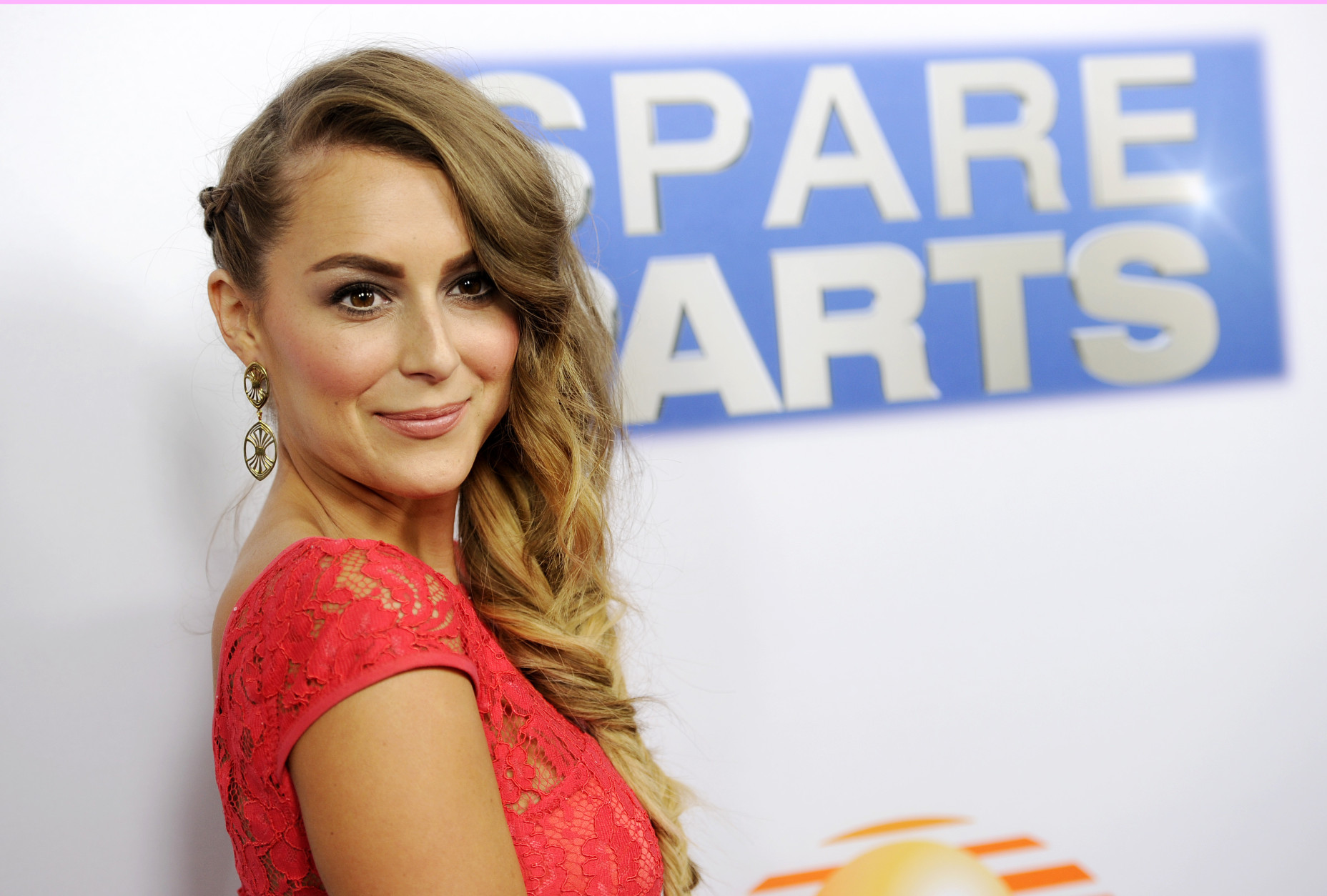 """Alexa Penavega, a cast member in """"Spare Parts,"""" poses at the premiere of the film at Arclight Cinemas on Thursday, Jan. 8, 2015, in Los Angeles. (Photo by Chris Pizzello/Invision/AP)"""