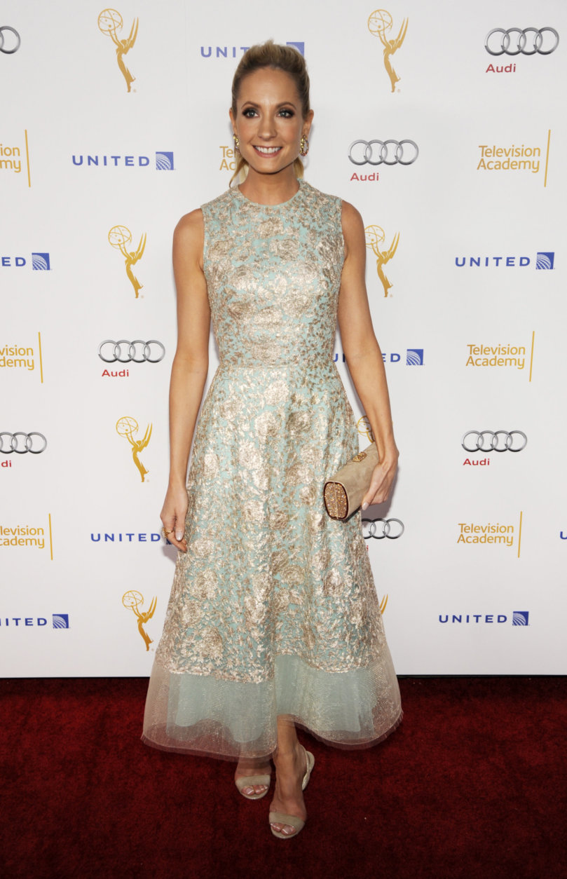 Actress Joanna Froggatt poses at the 66th Emmy Awards Performers Nominee Reception on Saturday, Aug. 23, 2014, in West Hollywood, Calif. (Photo by Chris Pizzello/Invision/AP)