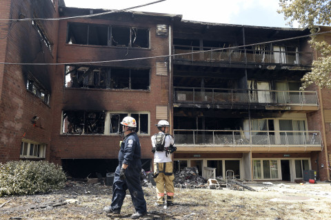 Gas lines being tested around site of Silver Spring apartment explosion