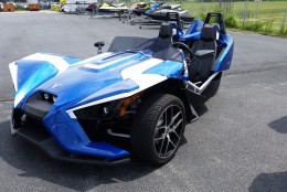 """""""If you enjoy driving a convertible car, but want the power and handling of a go cart - this vehicle is very exhilarating,"""" Pete's Cycles Vice-President John Leach said.  (Courtesy Maryland Department of Transportation)"""
