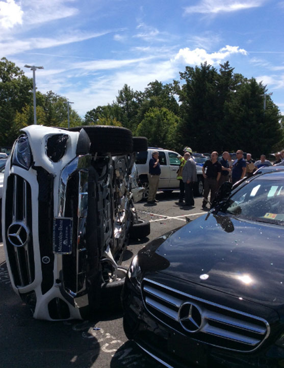 flips suv during test drive at mercedes benz of arlington dealership. Cars Review. Best American Auto & Cars Review