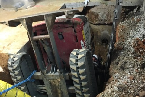 Photos: Bobcat operator rescued from a trench in Montgomery Co.