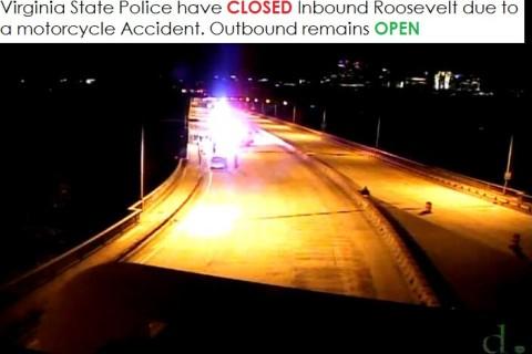 Fatal crash slows inbound Roosevelt Bridge traffic for hours