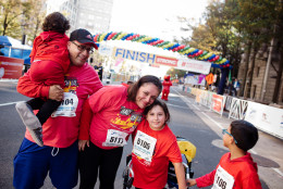 Xochitl Vargas was diagnosed with spastic diplegia cerebral palsy when she was 18 months old. Despite being told she might never walk, Vargas completed her first 5K in 2015 to raise money for other children in need of medical services. (Children's National Health System via Flickr)
