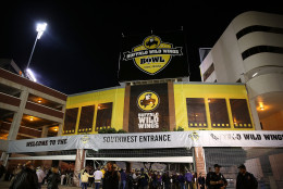 TEMPE, AZ - DECEMBER 28:  General view of Sun Devil Stadium before the Buffalo Wild Wings Bowl between the Michigan Wolverines and the Kansas State Wildcats on December 28, 2013 in Tempe, Arizona.  (Photo by Christian Petersen/Getty Images)