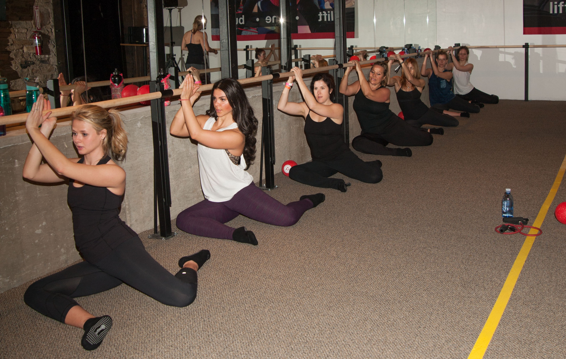 PARK CITY, UT - JANUARY 25:  Sundance goers attend Pure Barre Hosts Pop-up Studio - Day 3 - 2015 Park City on January 25, 2015 in Park City, Utah.  (Photo by Lily Lawrence/Getty Images for Pure Barre)