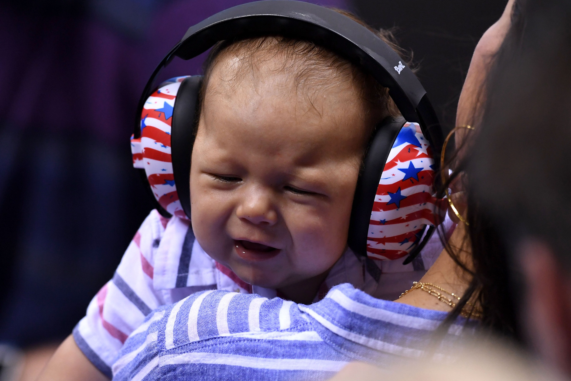 RIO DE JANEIRO, BRAZIL - AUGUST 09:  Boomer Phelps, the son of Michael Phelps of the United States, is seen on Day 4 of the Rio 2016 Olympic Games at the Olympic Aquatics Stadium on August 9, 2016 in Rio de Janeiro, Brazil.  (Photo by David Ramos/Getty Images)