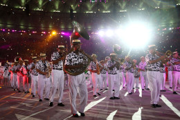 RIO DE JANEIRO, BRAZIL - AUGUST 21:  A marching band entertains the crowd and athletes during the Closing Ceremony on Day 16 of the Rio 2016 Olympic Games at Maracana Stadium on August 21, 2016 in Rio de Janeiro, Brazil.  (Photo by Cameron Spencer/Getty Images)