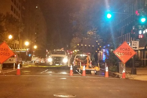 Part of L St. remains closed after fire; Sprint 911 service restored (Video)