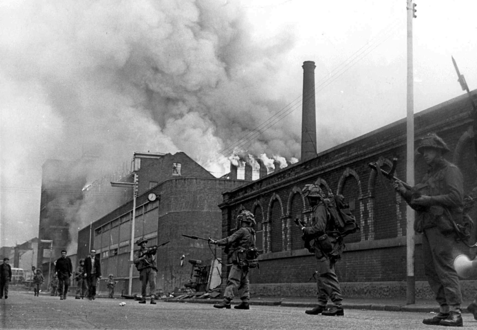 In 1969, British troops went to Northern Ireland to intervene in sectarian violence between Protestants and Roman Catholics. (AP Photo).